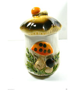 VTG CERAMIC JAPAN FIGURAL  MUSHROOM  SALT OR PEPPER SHAKER WITH STIPPER - $17.82