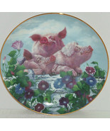 Pigs in Bloom Hogs Hamming it Up Collector Plat... - $49.95