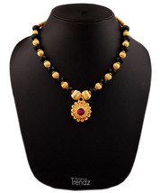 Womens Trendz Round Pandal Unique Haar 24K Gold Plated Alloy Necklace - $37.00