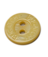 "Org Bugatchi plastic Husk color Replacement front shirt button .45"" - $4.90"