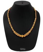 Womens Trendz Half Jhaler Panadi Thushi 24K Gold Plated Alloy Necklace - $37.00