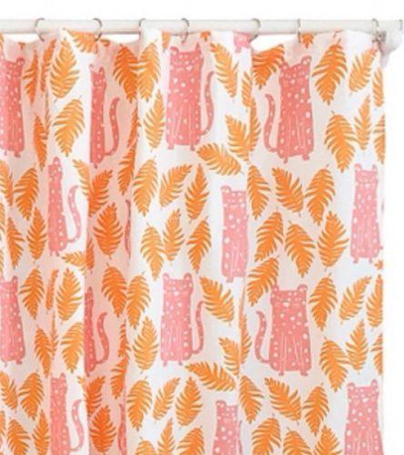 12 Previous Pillowfort Cheetah Apricot Fabric Shower Curtain Kids Beach
