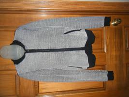 Ann Taylor Black & White Zip Front Stretch Knit Sweater - Size S - $19.79