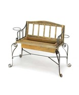 Pine Wood Garden Bench Planter - $82.00