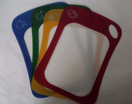 Cutting Board Mat Healthy Sanitary Seperated Food Preparation 4pcs - $31.09