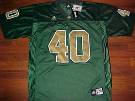 adidas NCAA FBS Notre Dame Fighting Irish 40 Green Gold Football Jersey ... - $69.28
