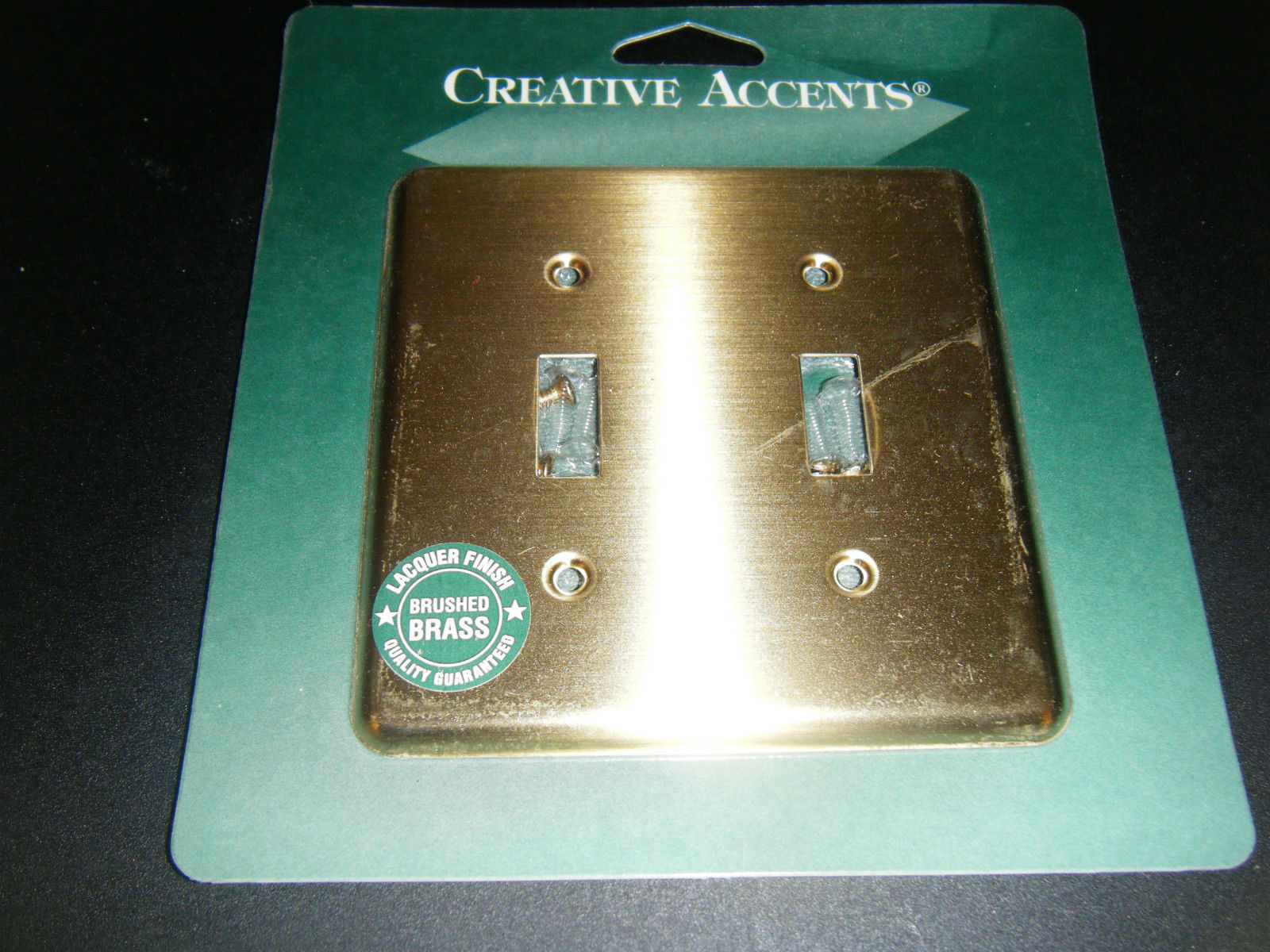 Creative Accents Brushed Chrome Steel 2 Rocker Switch GFCI Decorative Wallplate