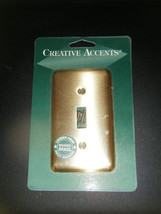 Creative Accents Brushed Brass Steel Single Toggle Switch Wall Plate #2BB101 - $7.91