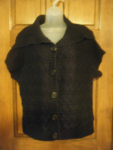Ladies Croft & Barrow Cable Stitch SS Button Front Cardigan Sweater - Size XL - $13.72