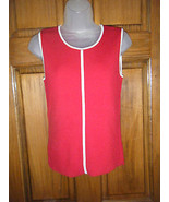 Ladies Emma James Sleeveless Red Ribbed Sweater Shell - Size M - $13.72