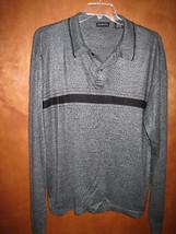 Men's George LS Button Neck Sweater Shirt - Size L - $9.79