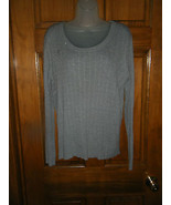Faded Glory Gray Scoop Neck Cable Stitch Sweater - Size XXL (20) - $13.72