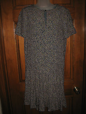 Primary image for Ladies Anne Klein II Polka Dot Dropped Waist Dress - Size 4