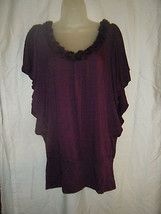 Ladies xhilaration Purple Stretch Knit Top - Size L - $9.80
