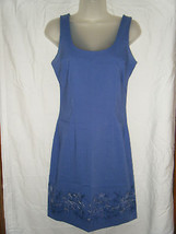Ladies Express Stretch Floral Embroidered Hem Sleeveless Dress - Size 1/2 - $15.59