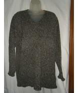 Sag Harbor Sport Gray Tweed V-Neck Sweater - Size L - $15.69