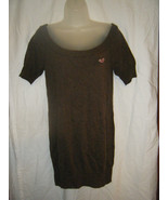 Ladies Hollister Brown Boat Neck Tunic Sweater - Size XS - $14.25