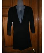 Gap Black Tunic Sweater w/Front Tie - Size S - $13.72