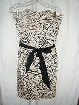 Ladies H & M Strapless Cotton Blend Animal Print Dress - Size 8 - $13.36