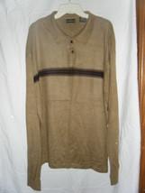 Men's George Tan Striped Polo Sweater Shirt - Size L - $10.68