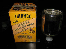 Vintage 1959 Thermos Brand Wide Mouth Vacuum Replacement Filler No. 60F - NIB - $14.27