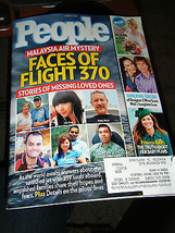 People Magazine - Faces of Flight 370 Cover - March 31, 2014 - $5.35