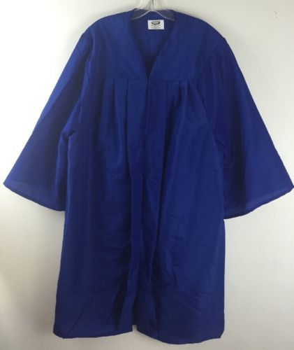 Jostens Graduation Gown Choir Blue Robe Clergy Costume Mens Womens 6`1