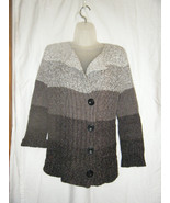 Ladies Jones New York Sport Gray Tones Cardigan Sweater - Size S - $14.71