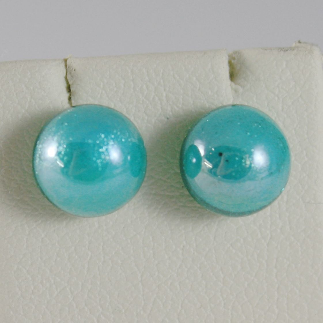 ANTICA MURRINA VENEZIA TURQUOISE HALF BALL 8 MM WITH BUTTERFLY EARRINGS