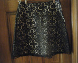 Heart & Soul Black Lace Illusion Skirt - Size M
