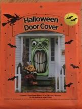 GREEN GHOUL HALLOWEEN DOOR COVER NEW IN PKG FREE SHIP - £3.56 GBP