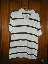 Men's Aeropostale Authentic Fit Striped Polo Shirt - Size L - $13.36