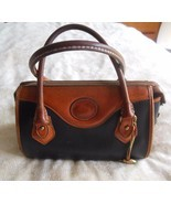 Vintage Dooney & Bourke Handbag SatchelBlack/Ta... - $19.79