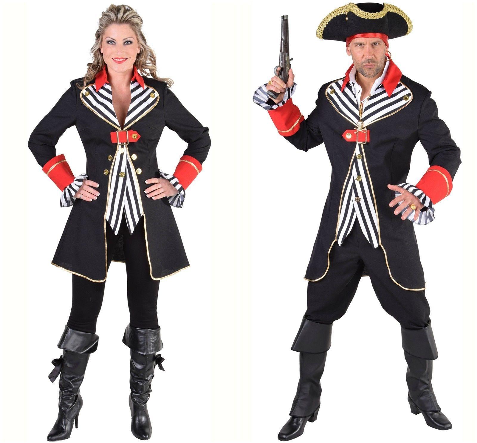 Gents Pirate Costume - Striped Waistcoat style - XS-XXL
