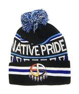 Native Pride Medicine Wheel Cuffed Knit Winter Hat Pom Beanie (Black) - $12.95