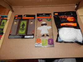 Halloween Outside Decor Kit Door Cover 200ft Of Spiderweb Window Gel Cli... - €6,36 EUR