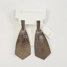 Kendra Scott Azar Silver LARGE Drop Dangle Earrings NWT - $73.76