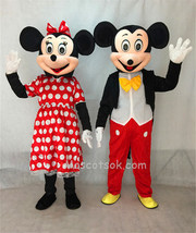 Sale Foam Mickey Mouse And Minnie Mouse the Mickey Couple Mascot Adult Costume - $269.99