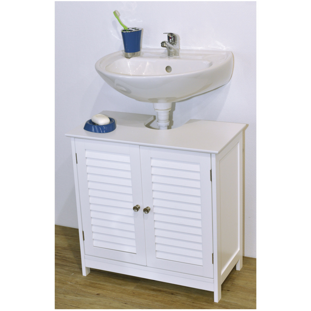 Bathroom freestading cabinet under sink storage furniture for Bathroom under sink storage