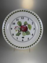 "Portmeirion New Pomona 10"" Wall Clock Apple (No... - $15.85"