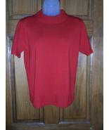Ladies Sag Harbor Mock Turtleneck SS Sweater Top - Size Small - $12.75