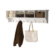 Coat Rack Wood Wall Mounted Shelf Holder Hooks Hanger Entryway Storage O... - $196.99