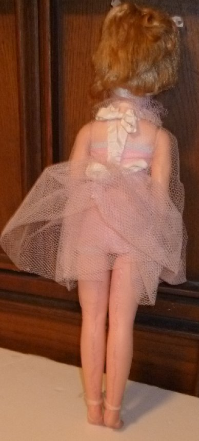 """Vintage high heel sleep eyes blonde fashion doll home-made outfit 18"""""""