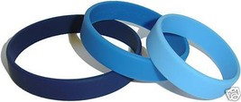 5 custom silicone wristbands - all different colors and or texts - $15.83