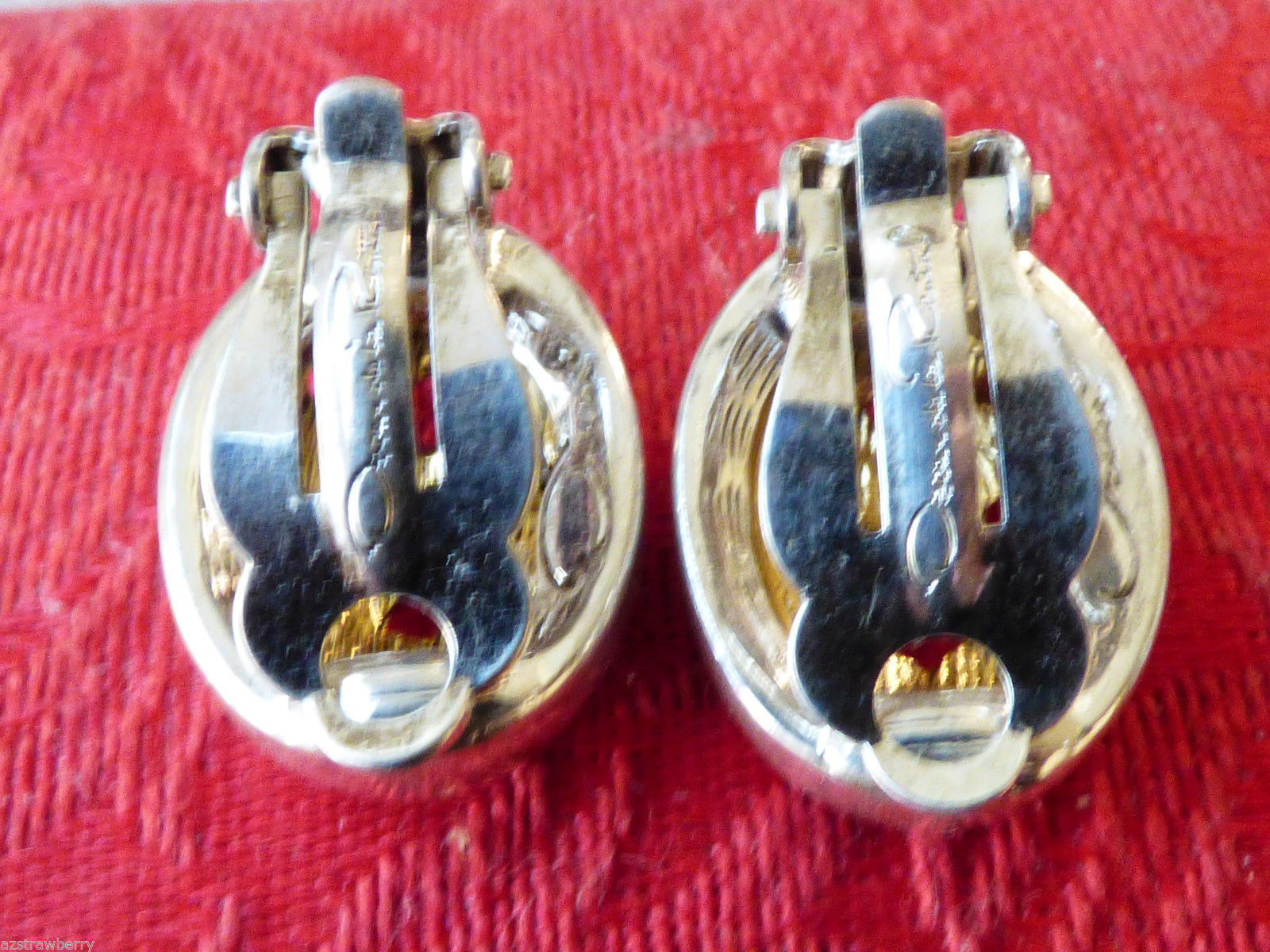 OSCAR DE LA RENTA SIGNED SILVER & GOLD TONE SCROLL FILIGREE CLIP ON  EARRINGS