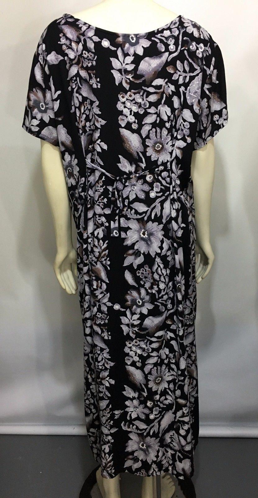 Hilo Hattie Womens L Hawaiian Tropical Floral Print Mid-Calf Shirt-Dress TieBack