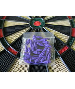 25 NEW PURPLE Dimpled DART TIPS for All Electro... - $1.49