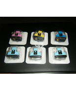 Lot of 6 HP 02 Series Ink Cartridges C8774W, CB284W, CB283W, CB282W, CB280W - $22.76