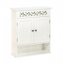 10017748 Charming White Ivy Trellis Wall Cabinet - $99.95