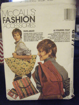 McCall's Fashion Accessories Assorted Tote Bags Pattern - $8.90